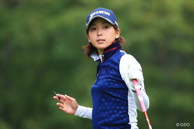 2016年 日本女子プロゴルフ選手権大会コニカミノルタ杯 初日 森美穂 淡い期待を胸に秘めた森美穂が、メジャー大会で自己ベストとなる2位発進を決めた
