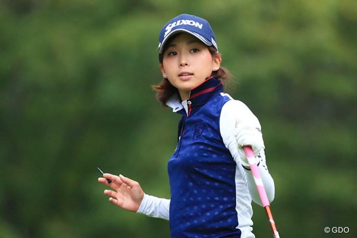 淡い期待を胸に秘めた森美穂が、メジャー大会で自己ベストとなる2位発進を決めた 2016年 日本女子プロゴルフ選手権大会コニカミノルタ杯 初日 森美穂