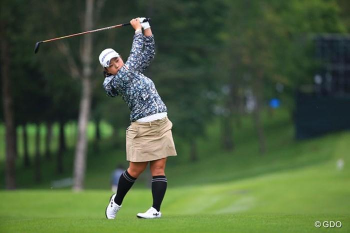 またもトップ10スタートの武尾咲希。初日は任せておけ!では、もちろん満足できません 2016年 日本女子プロゴルフ選手権大会コニカミノルタ杯 初日 武尾咲希