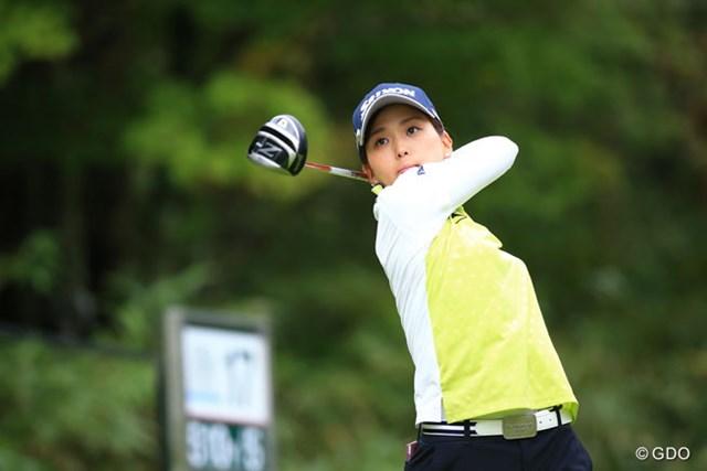 2016年 日本女子プロゴルフ選手権大会コニカミノルタ杯 2日目 森美穂 森美穂だって負けていない。首位と2打差の6位をキープ