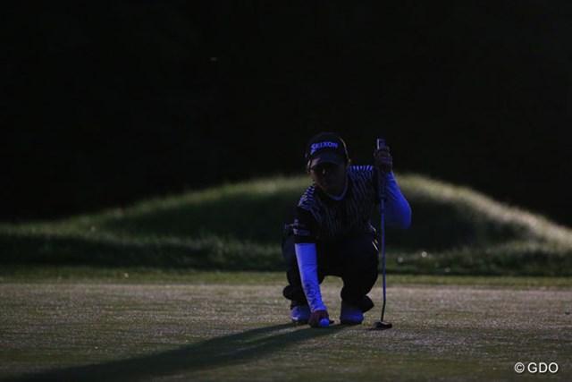 2016年 日本女子プロゴルフ選手権大会コニカミノルタ杯 2日目 下川めぐみ 最後のライン読み