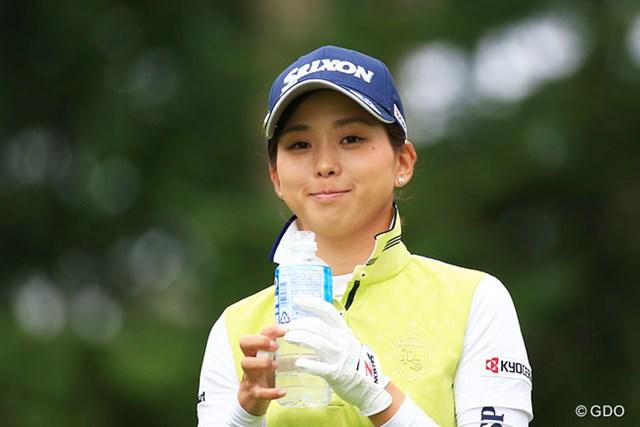 2016年 日本女子プロゴルフ選手権大会コニカミノルタ杯 2日目 森美穂 ちゃんと目線くれるなんて。良い子だーーーーーー