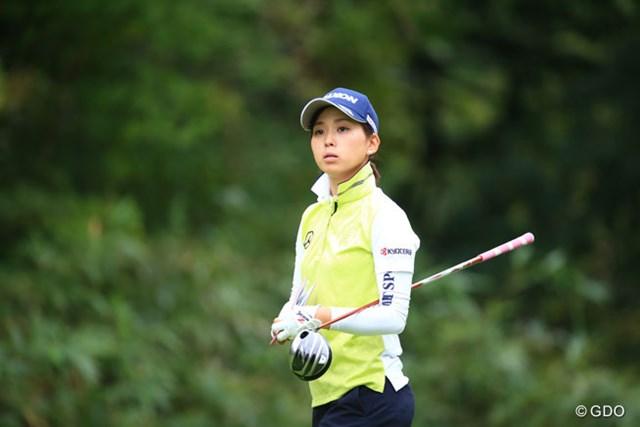 2016年 日本女子プロゴルフ選手権大会コニカミノルタ杯 2日目 森美穂 イーブンに戻してしまったけどよく耐えたよ