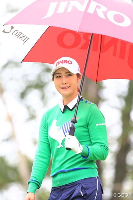 2016年 日本女子プロゴルフ選手権大会コニカミノルタ杯 2日目 キム・ハヌル JINROのコマーシャル見たくなっちゃった