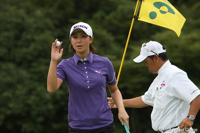 2009年 ヨネックスレディスゴルフトーナメント最終日 古閑美保 「パターが入らなかった」と言いつつも、3位タイにはレベルアップを感じていた古閑美保