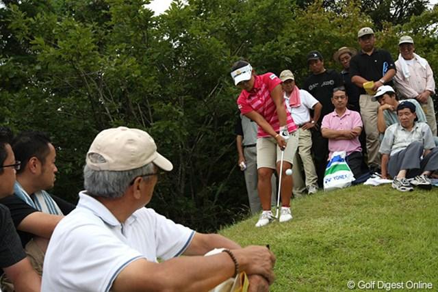 2009年 ヨネックスレディスゴルフトーナメント最終日 馬場ゆかり 14H、トラブルもナイスパー