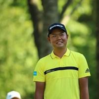 笑うとまぁまぁ年相応だね。 2016年 ANAオープンゴルフトーナメント 2日目 前粟蔵俊太