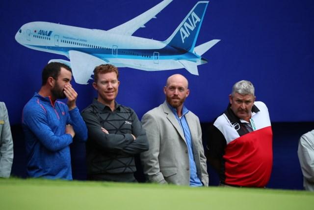 2016年 ANAオープンゴルフトーナメント 最終日 外国人選手たち 外国人選手たちがブレンダンの応援にやってきた。