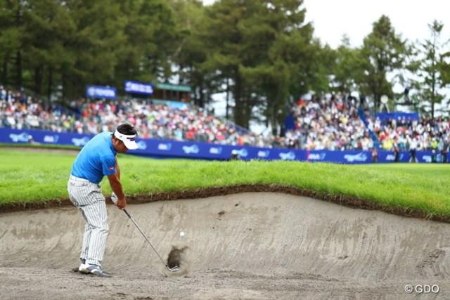2016年 ANAオープンゴルフトーナメント 最終日 池田勇太 この最終のバンカーさえ捕まらなければね。