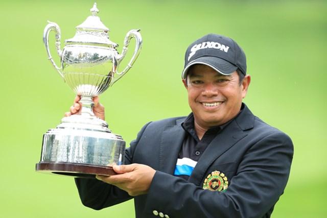 3打差をつけてシニアメジャー初優勝を飾ったP.マークセン ※写真提供:日本ゴルフ協会