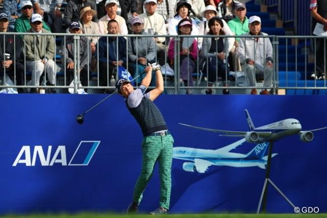 石川遼は出場3試合連続でトップ3のポジションを確保した