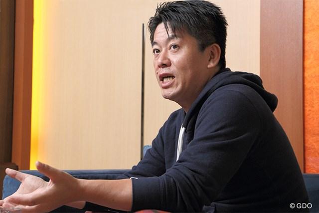 スポーツビジネスの可能性を語る堀江氏