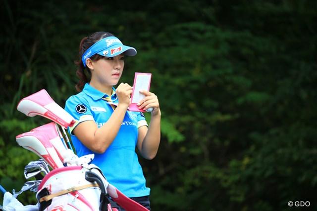 2016年 ミヤギテレビ杯ダンロップ女子オープン 2日目 香妻琴乃 香妻琴乃は2位に後退。2打差を追って最終日に臨む