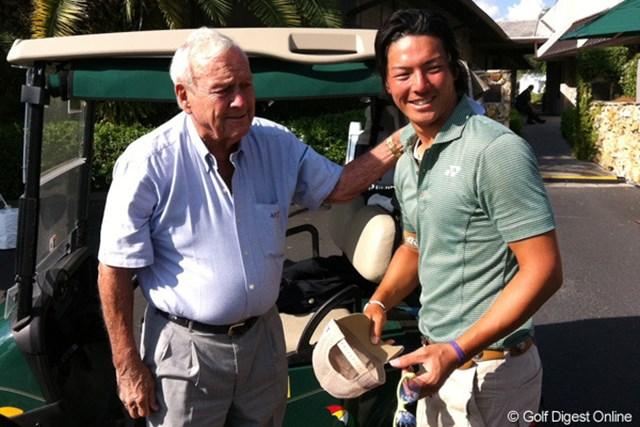 2012年「 アーノルド・パーマーインビテーショナル」で、パーマー氏と対面した石川遼