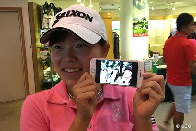 2016年 日本女子オープンゴルフ選手権競技 事前 勝みなみ 高校生活も満喫する勝みなみ。笑顔で明かしたエピソードはいつか青春の思い出になる
