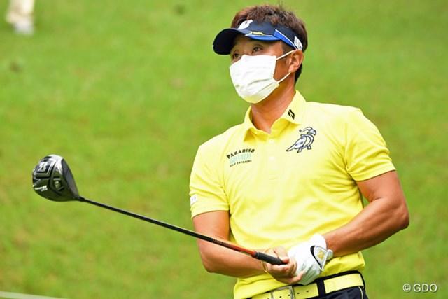 先週に引き続いてマスク姿での参戦も、3オーバーの77位タイと気の毒な結果に