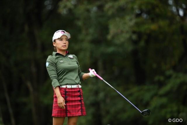 2016年 日本女子オープンゴルフ選手権競技 初日 有村智恵 賞金ランク90位の有村智恵は来季のシード権をかけ上位に食い込めるか