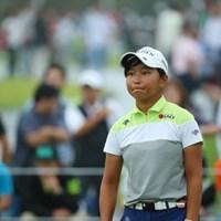この選手すっごい小さい。でも強い!応援したくなるね。 2016年 日本女子オープンゴルフ選手権競技 初日 @佐渡山理莉