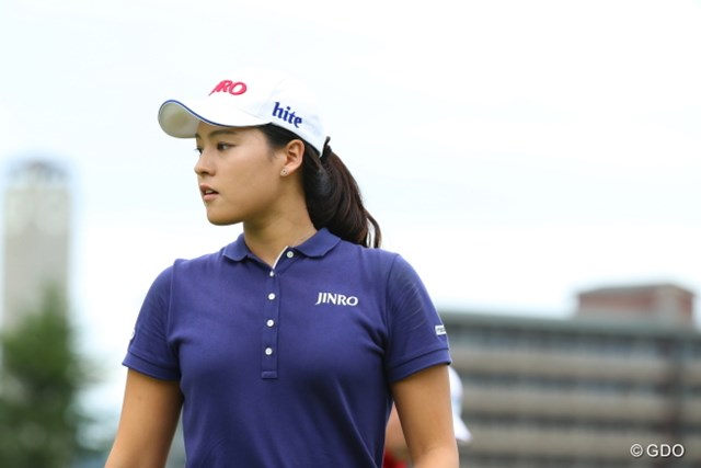 2016年 日本女子オープンゴルフ選手権競技 初日 チョン・インジ 彼女は自然な美しさが魅力的。