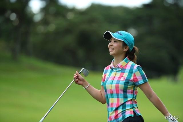 2016年 日本女子オープンゴルフ選手権競技 初日 菊地絵理香 途中までトップに君臨していたのに。