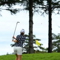 アメリカ仕込み?のロブショットを披露。 2016年 日本女子オープンゴルフ選手権競技 初日 宮里美香