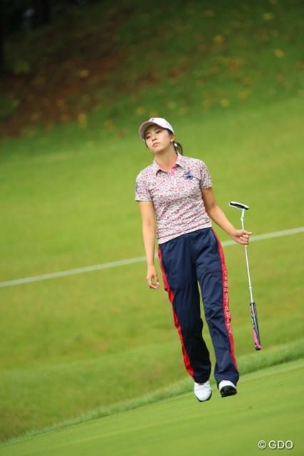 2016年 日本女子オープンゴルフ選手権競技 初日 堀琴音 あきらかに不満そう。