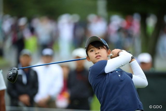 2016年 日本女子オープンゴルフ選手権競技 初日 長野未祈 15歳のアマチュア長野未祈が首位と1打差の2位で発進した