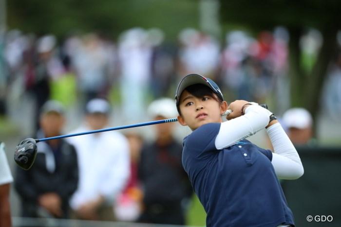15歳のアマチュア長野未祈が首位と1打差の2位で発進した 2016年 日本女子オープンゴルフ選手権競技 初日 長野未祈
