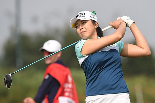 2つのイーグルを奪い「63」としたハー・ミジョンが首位タイに躍り出た(Atsushi Tomura/Getty Images)