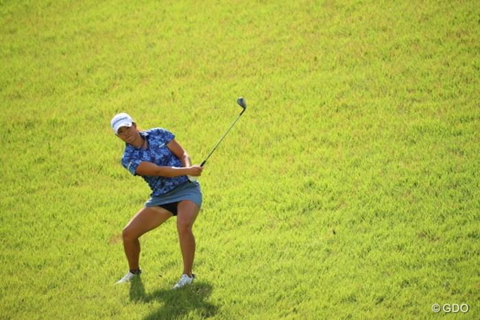僕が行くといつも変なところからショットしてる人。 2016年 日本女子オープンゴルフ選手権競技 2日目 山本景子
