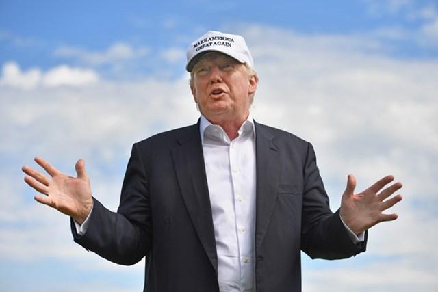 2016年 ドナルド・トランプ氏 所有コースを舞台に、またも女性有権者からの反発を買う事実が明るみとなったD.トランプ氏(Jeff J Mitchell/Getty Images)