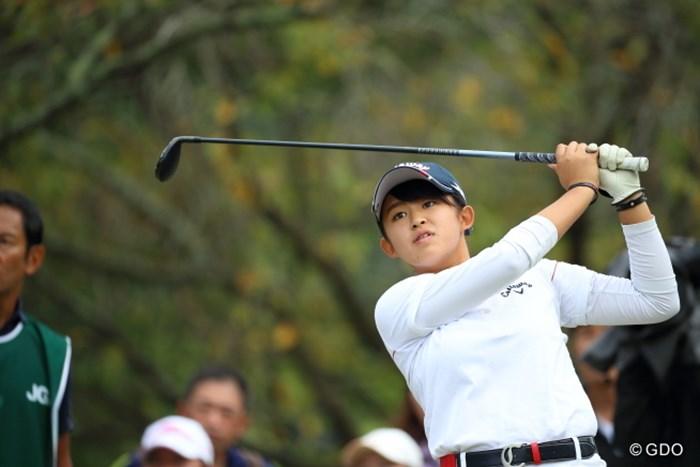 アマチュアの15歳・長野未祈が単独首位で最終日を迎える 2016年 日本女子オープンゴルフ選手権競技 3日目 長野未祈