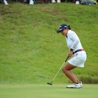 最終も大勢のギャラリーの前でバーディ。なにか持ってるね、この子は。 2016年 日本女子オープンゴルフ選手権競技 3日目 長野未祈