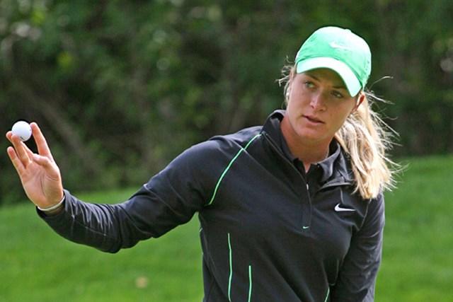 2009年 CN カナディアン女子オープン 3日目 スーザン・ペターセン 2位に5打差をつけ首位を独走するスーザン・ペターセン(Hunter Martin/Getty Images)