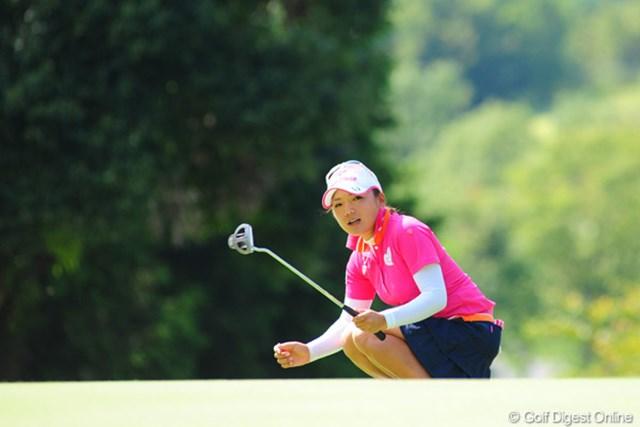 昨日に続き、最終ホールでスコアを落として悔しがった有村智恵。惜しくも2位タイ