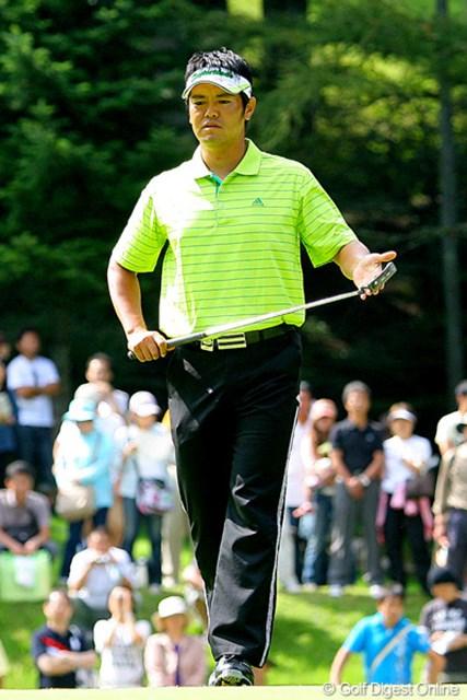 2009年 フジサンケイクラシック 最終日 武藤俊憲 最後までパットに苦しみ、6位タイに後退した武藤俊憲