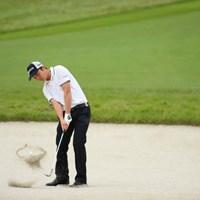 よく見るとボールのまわりに砂の輪が! 2016年 日本オープンゴルフ選手権競技 初日 @木村太一