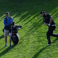 """1打差5位で発進した""""ビーフ""""アンドリュー・ジョンストン(Ross Kinnaird/Getty Images) 2016年 英国マスターズ by Sky Sports 初日 アンドリュー・ジョンストン"""
