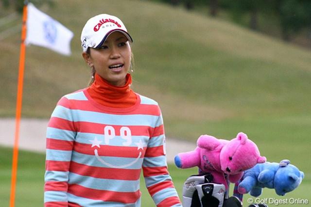 プロアマ戦で自己ベストの「63」を叩き出し笑顔の上田桃子