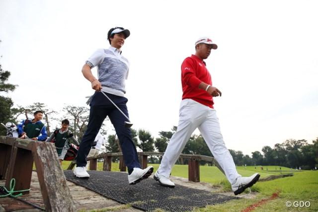 2016年 日本オープンゴルフ選手権競技 2日目 石川遼 松山英樹 日本のトップ2人。