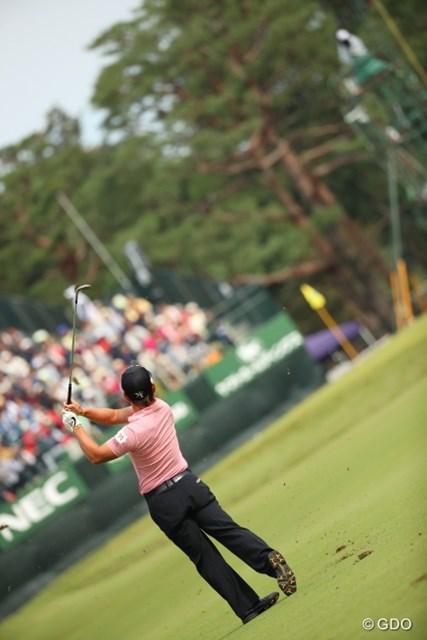 2016年 日本オープンゴルフ選手権競技 2日目 藤本佳則 このショット、ベタピン。