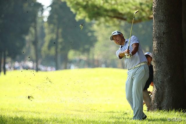 2016年 日本オープンゴルフ選手権競技 3日目 松山英樹 松山英樹は通算4アンダーとして首位に立ちホールアウトした