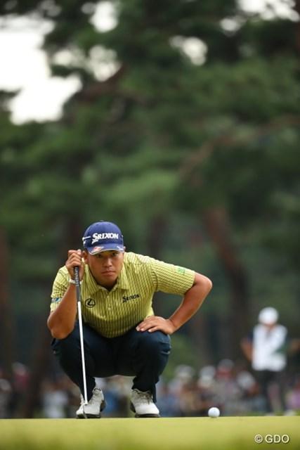 2016年 日本オープンゴルフ選手権競技 最終日 松山英樹 野獣の目。