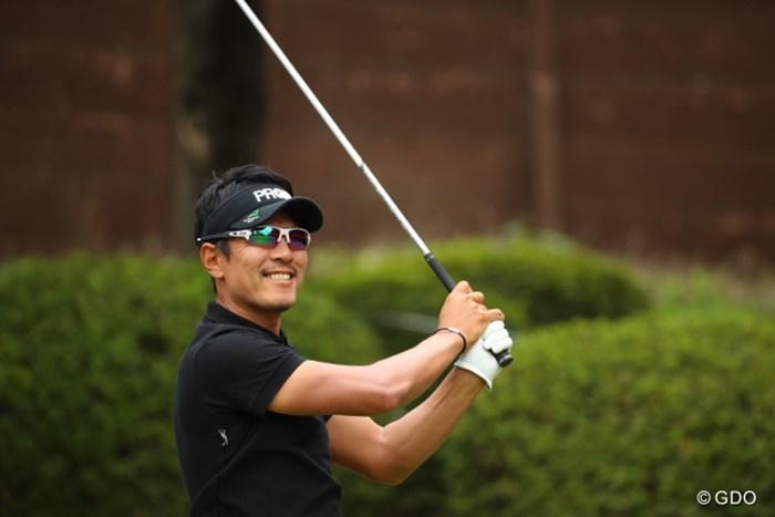 ナイスショットのあとの不敵な笑い。 2016年 日本オープンゴルフ選手権競技 最終日 矢野東