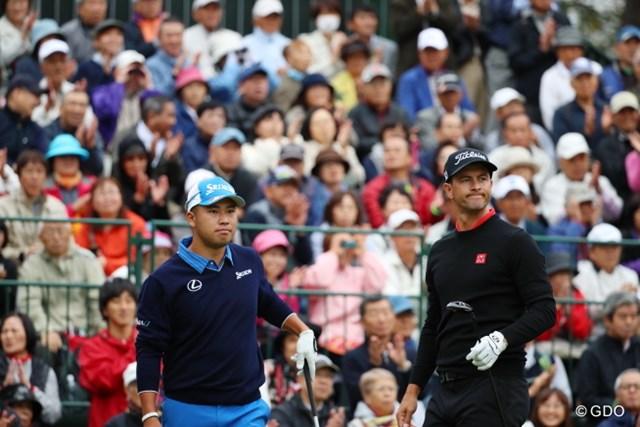 2016年 日本オープンゴルフ選手権競技 初日 松山英樹&アダム・スコット 米ツアーでもトップクラスの2人。木曜日の大会初日から1万人を超えるギャラリーが詰めかけた