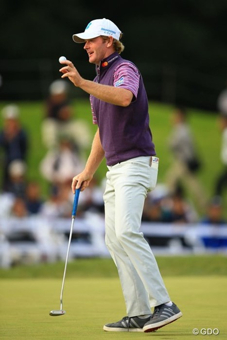 最終18番もバーディ締め。ノーボギーのラウンドは流石ですね。 2016年 ブリヂストンオープンゴルフトーナメント 2日目 ブラント・スネデカー