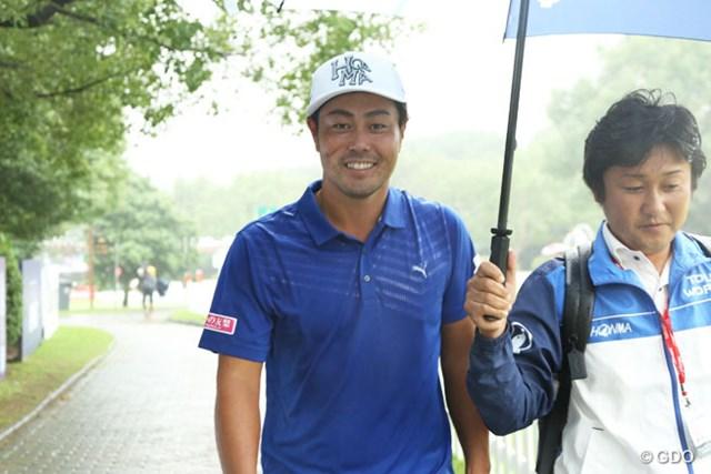 2017年 WGC HSBCチャンピオンズ 事前 谷原秀人 開幕前日の谷原秀人は雨のぱらつく中で練習を行った