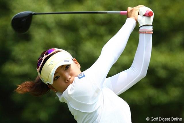 日本女子プロゴルフ選手権コニカミノルタ杯 初日 日本女子プロゴルフ選手権コニカミノルタ杯初日に好調な滑り出しを見せている有村智恵。※写真はゴルフ5レディス時のもの