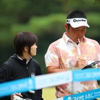 THE 夫婦。 2016年 マイナビABCチャンピオンシップ 2日目 小田龍一