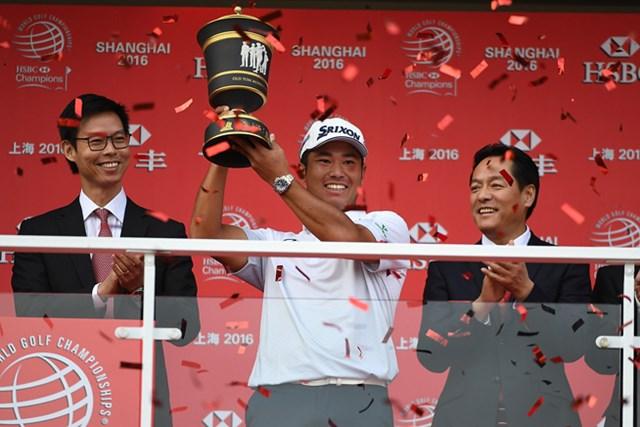 松山英樹が日本人としてWGC初制覇を達成。米ツアー3勝目を挙げた(Ross Kinnaird/Getty Images)